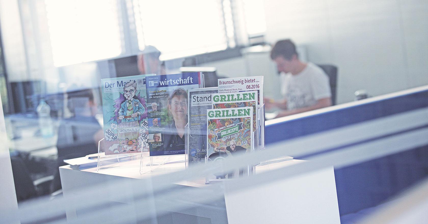 Die Redaktion des JHM Verlag in Braunschweig.